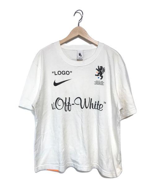 NIKE×OFF WHITE(ナイキ×オフホワイト)NIKE×OFF WHITE (ナイキ×オフホワイト) NRG X OW SS TEE ホワイト サイズ:Sの古着・服飾アイテム