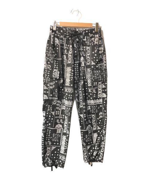 DANKE SCHON(ダンケ シェーン)DANKE SCHON (ダンケ シェーン) バンダナカーゴパンツ ブラック サイズ:Sの古着・服飾アイテム