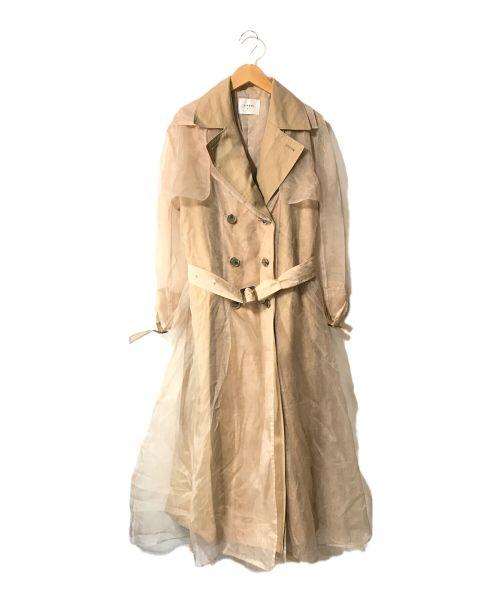Ameri VINTAGE(アメリヴィンテージ)Ameri VINTAGE (アメリヴィンテージ) 4WAY シアードッキングトレンチ ベージュ サイズ:Sの古着・服飾アイテム