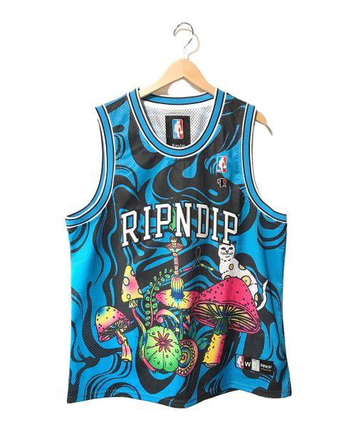 RIPNDIP(リップンディップ)RIPNDIP (リップンディップ) Psychedelic Basketball Jersey ブルー サイズ:XLの古着・服飾アイテム