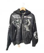 DIESEL()の古着「フーデッドスーベニアジャケット」|ブラック