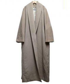 Max Mara(マックスマーラ)の古着「ピュアヴァージンウールコート」|ベージュ