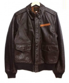 AVIREX(アヴィレックス)の古着「A-2レザーフライトジャケット」|ブラウン