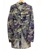COMMEdesGARCONSHommePlus(コム デ ギャルソン オム プリュス)の古着「総柄3Bジャケット」 パープル