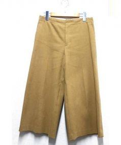 Drawer(ドロワー)の古着「ストレッチワイドパンツ」|ブラウン