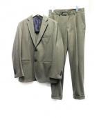 TOMORROW LAND(トゥモローランド)の古着「ウールセットアップスーツ」 カーキ