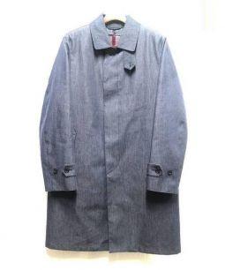 MACKINTOSH PHILOSOPHY(マッキントッシュフィロソフィー)の古着「コットンボンディングステンカラーコート」 インディゴ
