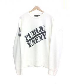 supreme×undercover(シュプリーム×アンダーカバー)の古着「Public Enemy Crewneck」 オフホワイト