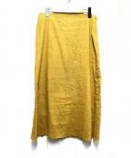SIMON MILLER(サイモンミラー)の古着「リネンマーメイドスカート」|イエロー