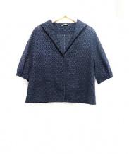 Toujours(トゥジュー)の古着「サークルカットワークシャツ」|ブラック