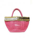RonHerman(ロンハーマン)の古着「コンチョキャンバストートバッグ」|ピンク