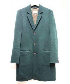 niuhans(ニュアンス)の古着「ウールカシミヤチェスターコート」|グリーン