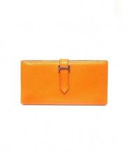 HERMES(エルメス)の古着「2つ折り財布」|オレンジ