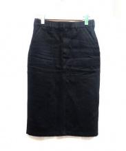 HYKE(ハイク)の古着「コットンスカート」|ブラック