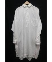 TICCA(チッカ)の古着「ロングシャツ」|ホワイト