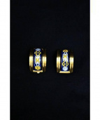 HERMES(エルメス)の古着「七宝焼き エマイユイヤリング」|ブルー