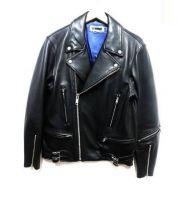 H BEAUTY&YOUTH(エイチビューティアンドユース)の古着「LAMB LEATHER RIDERS」|ブラック