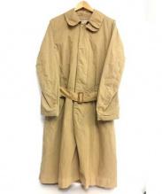 HAVERSACK(ハバーサック)の古着「ステンカラーコート」|ベージュ