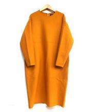 DRAWER(ドゥロワー)の古着「膝丈ウールワンピース」 オレンジ