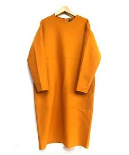 DRAWER(ドゥロワー)の古着「膝丈ウールワンピース」|オレンジ