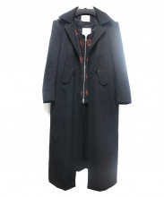 Yohji Yamamoto(ヨウジヤマモト)の古着「ライナー付チェスターコート」|ブラック