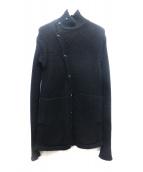 RICK OWENS(リックオウエンス)の古着「アルパカロングカーディガン」|ブラック