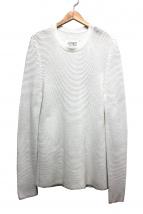 Maison Martin Margiela14(メゾンマルタンマルジェラ14)の古着「クルーネックニット」 ホワイト