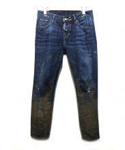 DSQUARED2(ディースクエアード)の古着「ペイントデニムパンツ」