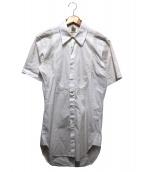 ALEXANDER McQUEEN × COMME des GARCONS(アレキサンダーマックイーン×コムデギャルソン)の古着「ショートスリーブロングシャツ」