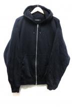 VAINL ARCHIVE(バイナルアーカイブ)の古着「ジップパーカー」|ブラック