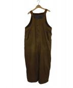 45R(フォーティーファイブアール)の古着「オイルドコットンオーバーオール」|ブラウン