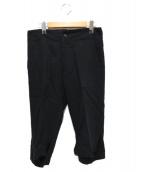 Yohji Yamamoto FEMME(ヨウジヤマモトファム)の古着「デザインウールパンツ」|ブラック