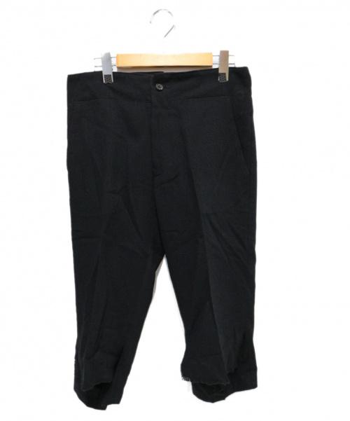 Yohji Yamamoto FEMME(ヨウジヤマモトファム)Yohji Yamamoto FEMME (ヨウジヤマモトファム) デザインウールパンツ ブラック サイズ:1 FX-P10-118の古着・服飾アイテム