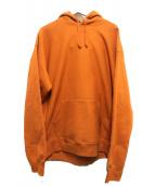 SUPREME(シュプリーム)の古着「Studded hooded sweatshirt」 オレンジ