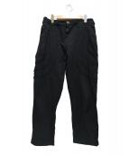 COMME des GARCONS HommePlus(コムデギャルソンオムプリュス)の古着「デザインワイドパンツ」|ブラック