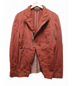 COMME des GARCONS HommePlus(コムデギャルソンオムプリュス)の古着「ジップテーラードジャケット」|オレンジ