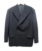 COMME des GARCONS HommePlus(コムデギャルソンオムプリュス)の古着「ウールダブルジャケット」|ブラック