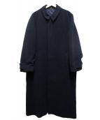 YS bis(ワイズビス)の古着「ロングウールコート」 ネイビー