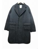 noir kei ninomiya(ノワール ケイ ニノミヤ)の古着「キュプラツイルキルトコート」|ブラック