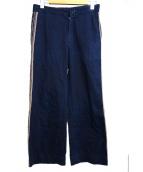45rpm(フォーティーファイブアールピーエム)の古着「サイドラインワイドパンツ」 ネイビー
