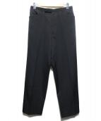 Yohji Yamamoto pour homme(ヨウジヤマモトプールオム)の古着「ウールギャバシタックスラックス」|ブラック