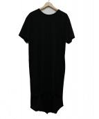 COMME des GARCONS HommePlus(コムデギャルソンオムプリュス)の古着「スパンコールロングTシャツ」|ブラック