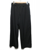 YohjiYamamoto pour homme(ヨウジヤマモト プールオム)の古着「ウールギャバワイドパンツ」|ブラック