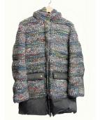 Coohem(コーヘン)の古着「ツイードダウンコート」|グレー