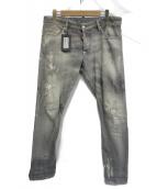 DSQUARED2(ディースクエアード)の古着「ダメージ加工デニムパンツ」|グレー