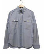 JUNYA WATANABE COMME des GARCONS MAN(ジュンヤワ タナベ コムデギャルソン マン)の古着「ボタンダウンシャツ」|ブルー
