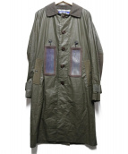 JUNYA WATANABE COMME des GARCONS MAN(ジュンヤワタナベ コムデギャルソン マン)の古着「ソーラーパネルコート」|オリーブ
