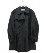 ISSEY MIYAKE MEN(イッセイ ミヤケ メン)の古着「トレンチコート」|ブラック