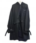 SYU.(シュウ)の古着「フーデッドコート」 ブラック