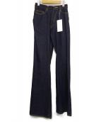 FACETASM(ファセッタズム)の古着「ツイステッドフレアデニムパンツ」|インディゴ